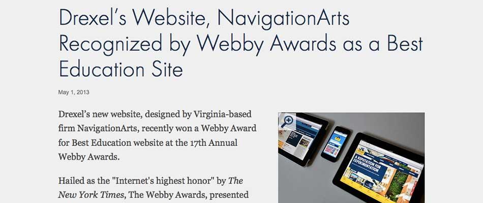 A Webby-winning Redesign